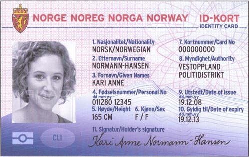 norsk id kort